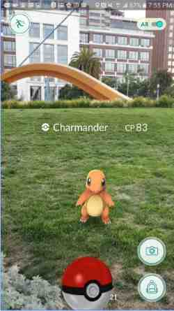pokemon go for android iphone and ipad screenshot